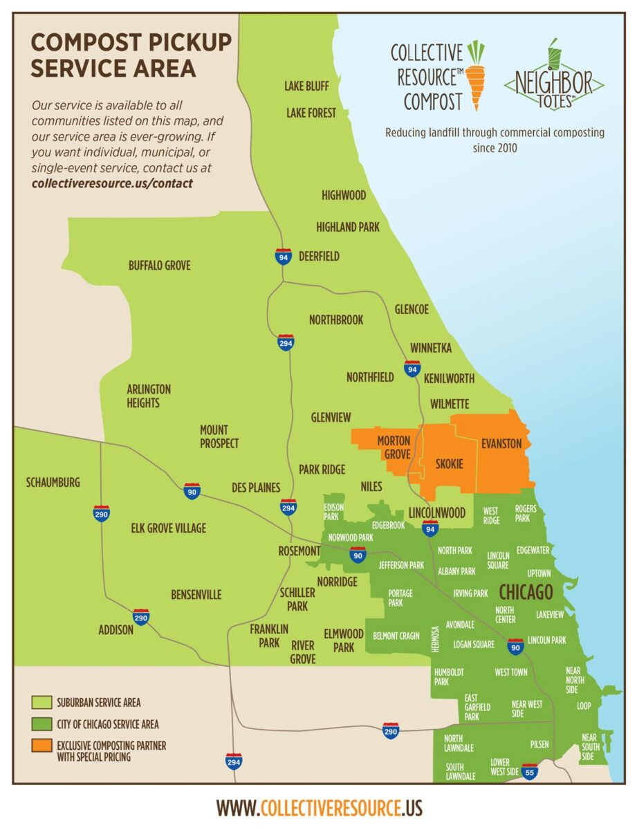 compost pickup service area map
