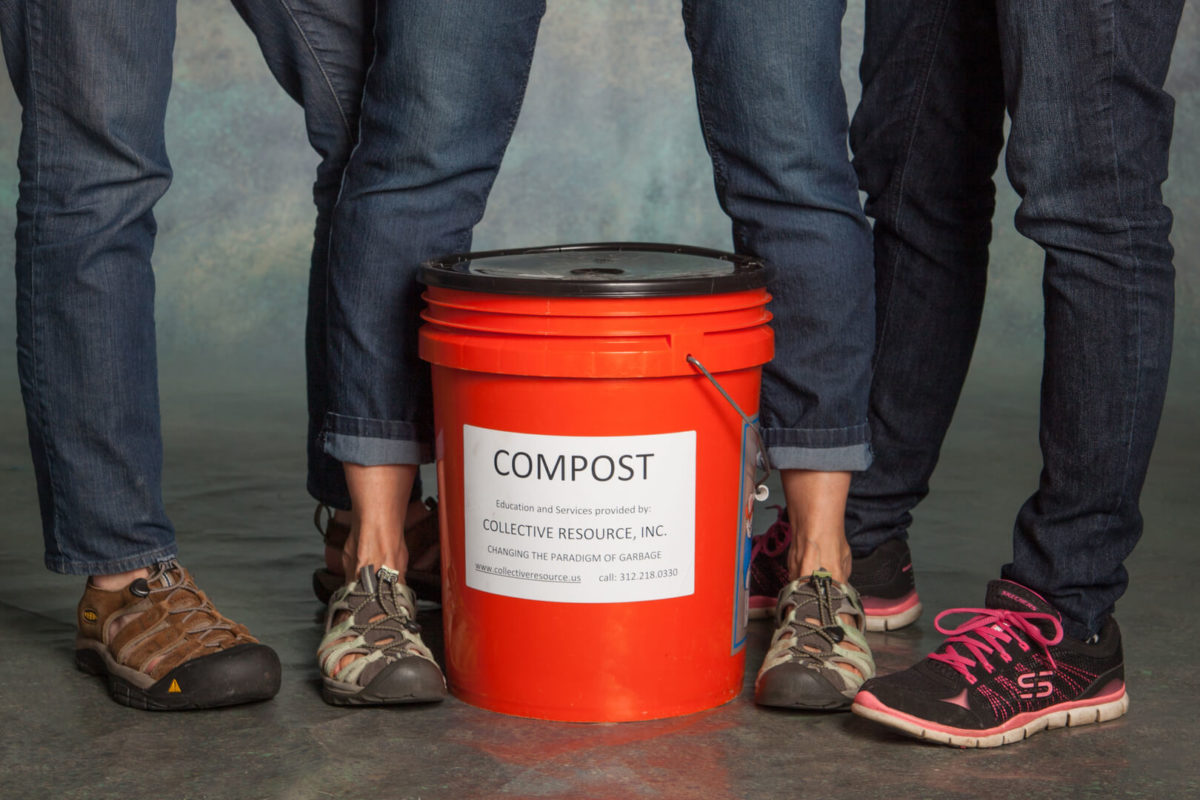 reduce the landfill by using composting services