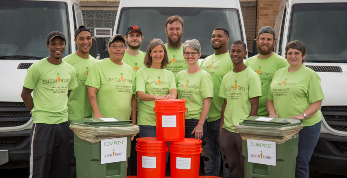 compost in chicago with collective resource compost pickup services