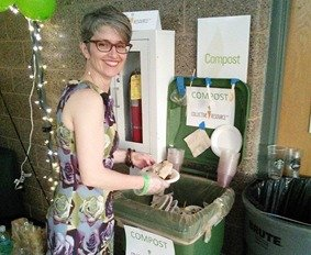 formal zero waste event composting by Collective Resource
