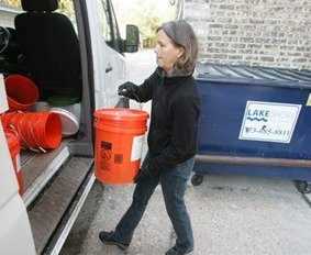 residential composting service - take to commercial composting site
