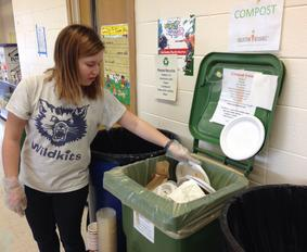 school zero waste event composting by Collective Resource