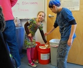 zero waste event at school composting by Collective Resource