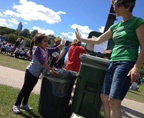 zero waste event - composting by Collective Resource
