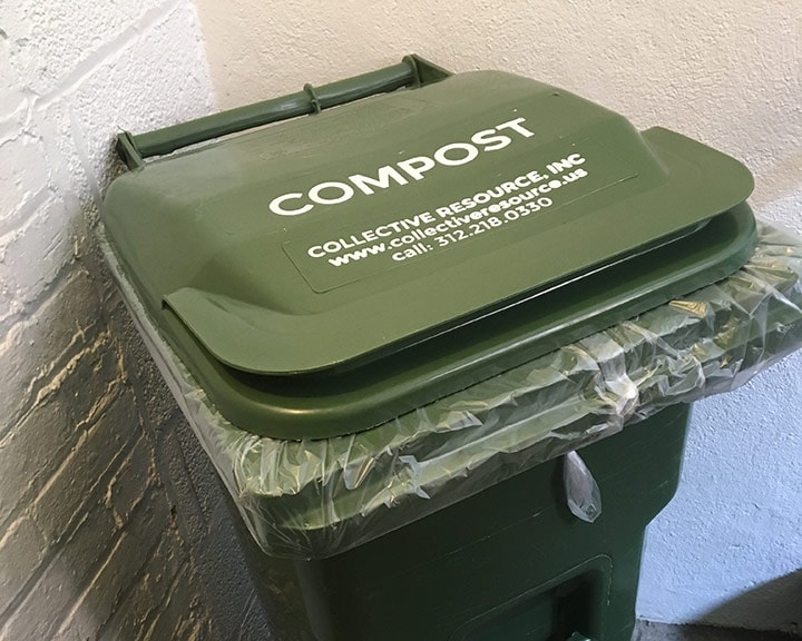 Keep your shared compost tote at a convenient location